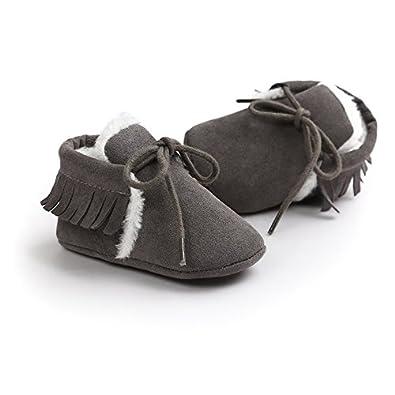 Borla Dulce de Invierno con Cordones Zapatos Calientes para Beb/é Ni/ña Suela Suave Botas Kfnire Zapatos de Beb/é