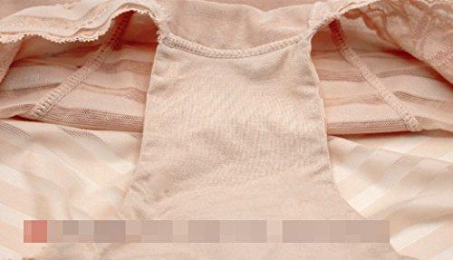 De La Mujer Pantalones Abdomen Señoras De La Alta Pantalones Apretados De La Cintura De Los Pantalones Del Vientre No Trace Sección Delgada De Ropa Interior Beige