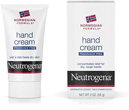 Neutrogena Norwegian Formula Moisturizing Hand Cream Formulated with Glycerin for Dry, Rough Hands, Fragrance-Free Intensive Hand Cream, 2 oz