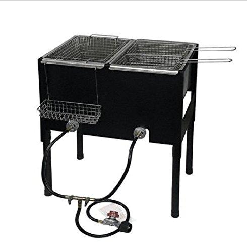 double basket outdoor fryer - 9