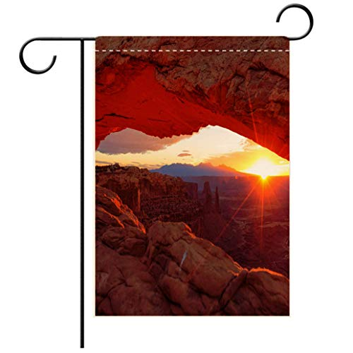 BEISISS Polyester and Linen Garden Flag Outdoor Flag House Flag BannerMesa Arch in Canyonlands National Park Near Moab Utah USAdecorated for Outdoor Holiday Gardens (Moab Colorado Fiber)