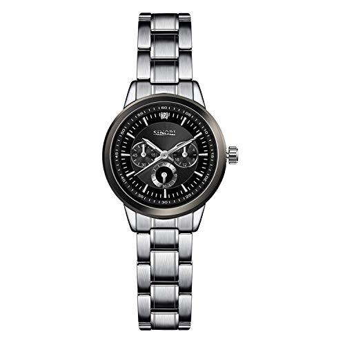 Famous Luxury Silver Quartz Watches Ladies Steel Antique Geneva Wristwatches Relogio 2019 Gift,11S9285L03