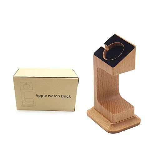 Apple Watch Dock, Blue Hole Stable Elevated Base Wood Apple Watch Charging Stand Dock Station, Support Apple Watch Series 3, Series 2, Series 1 (38 mm & 42 mm) by Blue Hole (Image #7)