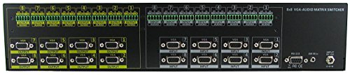 Rgbhv Matrix Switch - 8x8 VGA (RGBHV) HDTV w/ Stereo Analog Audio (Terminal block) Matrix Routing Switcher SB-8188TB