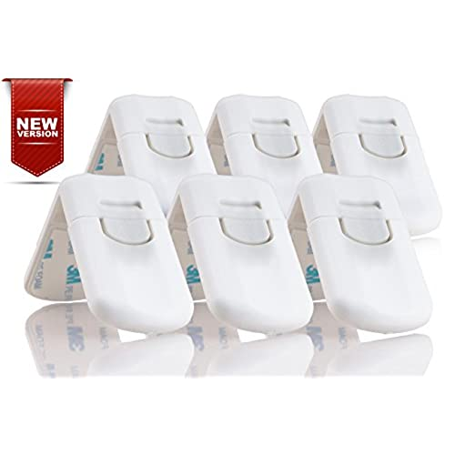 upgraded version childproof cabinet locks 6 piece adhesive lock set to secure your home today get 100 money warranty safe baby u0026 safe cabinets