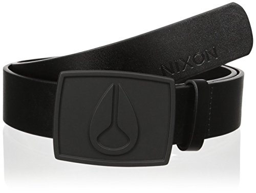 Nixon Young Men's Enamel Icon Ii Belt Accessory, all black, Large (Belt Black Icon)