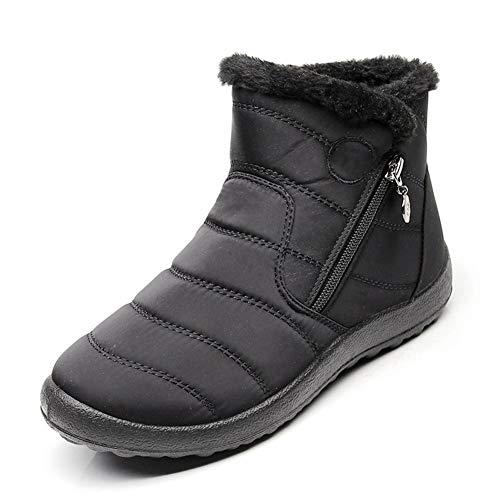 Keep Boots forty Zipper Cotton Ykfchdx Side Warm Winter Autumn Waterproof black Snow two Ladies U7qRz