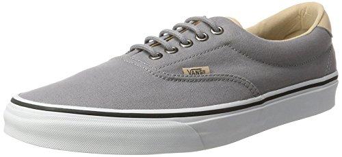 Vans Era 59 (VEGGIE TAN) mens fashion-sneakers VN-A38FSMN6_7.5 - Frost Grey/True White (Tan Canvas Footwear)