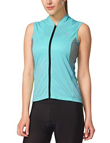 eless Cycling Jersey UPF 50+ Cyan-Blue Size XL ()