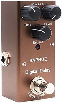 Pedal de retardo digital para guitarra eléctrica Cuasting / nivel/ repetición de pedal de efecto perilla tipo único 9 V True Bypass