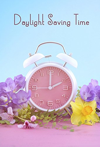 Laeacco 5x7ft Photography Backdrop Saving Time Clock Vinyl Photo Background Springtime Bloosom Bloom Blue Wall Pink Alarm Clock Kid's Room Wallpaper Classroom Study Photo Backdrops Studio Props