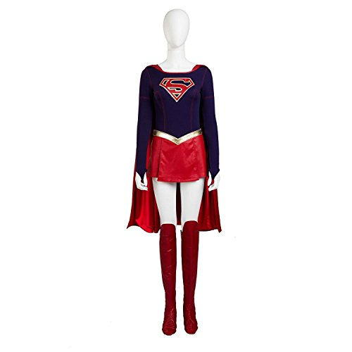 [Eddialdivia Supergirl Cosplay Halloween Costume Custom-Made (XXL)] (Supergirl Costumes Plus Size)