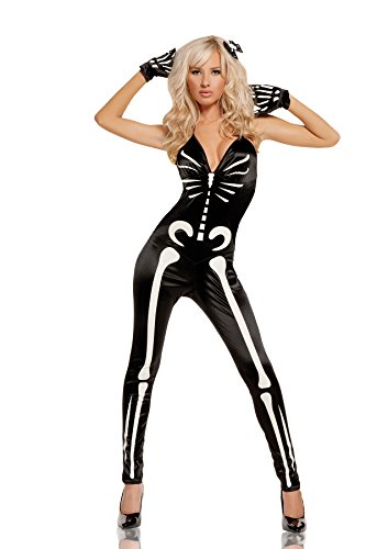 Sexy Glow In The Dark Female Skeleton Halloween Roleplay ...