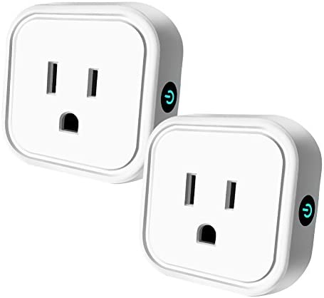 Wifi Smart Plug Mini Outlet Compatible with Alexa Google Home HEYGO Wireless Timer Socket Remote Control By Smart Phone from Anywhere 2 Pack