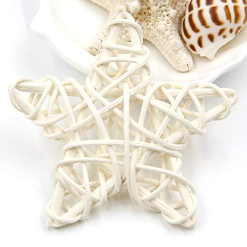 (SeedWorld Party DIY Decorations - 6CM Lovely Rattan Star Sepak Takraw Christmas/Birthday&Home Wedding Party Decorations DIY Ornaments Rattan Ball Kids Toys 1 PCs)