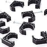 Litorange 30 PCS Black Half Clamp J-Hook with Nail