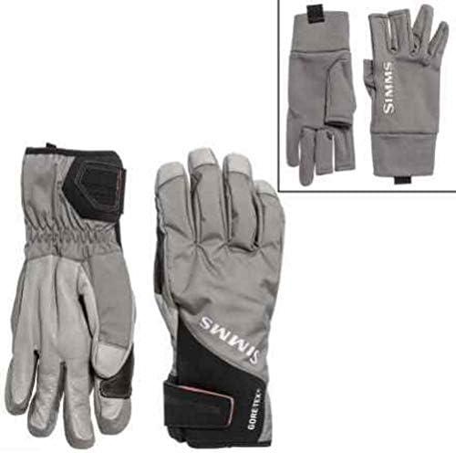 Simms Prodry glove Gore-tex プロドライ グローブ + ライナーS Charcoal [並行輸入品]