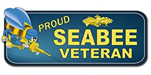 "US Navy Seabee Veteran Decal Bumper Sticker 8.5"" from Navy Decals"