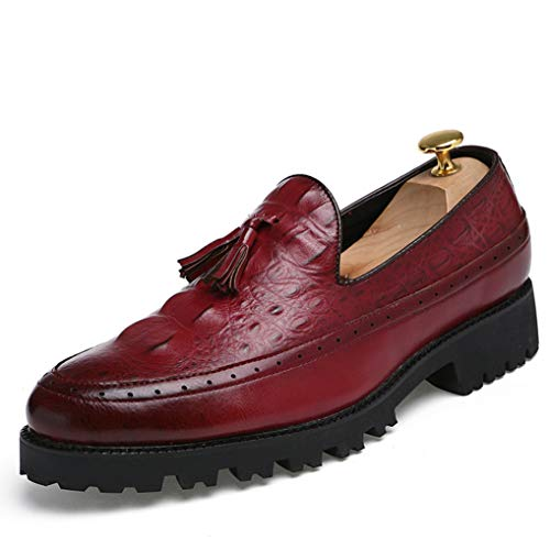 Starttwin Oxford Shoes Men Non-Slip Comfort Flexible Leisure Breathable Loafers ()