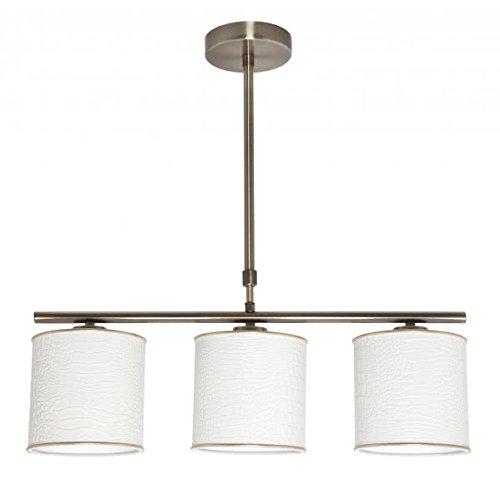 Energiesparende Verso 3 x E14 Leder Weiß-Gold regx55