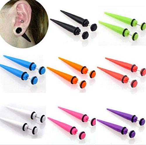 COLORFUL BLING 8pair Acrylic Stud Earrings Barbell for sale  Delivered anywhere in USA