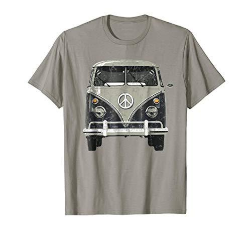 Vintage 1960s Hippie Bus Van T-Shirt (Van Hippy)