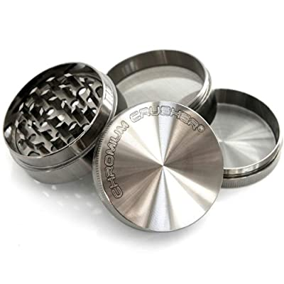 Chromium Crusher 2.2 Inch 4 Piece Tobacco Spice Herb Grinder - Pick Your Color