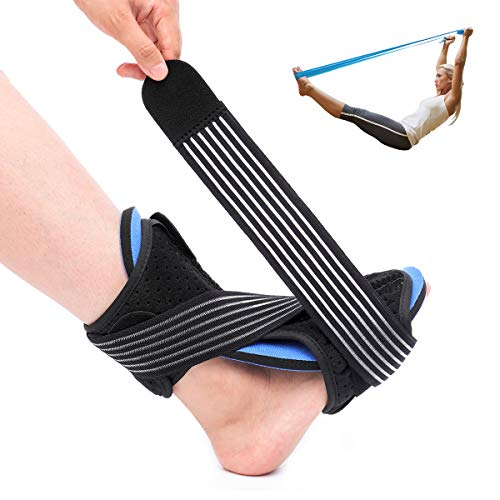 OUTERDO Plantar Fasciitis Night Splint Brace - Adjustable Dorsal Night Splint Foot Drop Orthotic Brace for Right or Left Foot, Effective Relief from Plantar Fasciitis Pain, foot back sprain and strain (Angle Trigger Right)