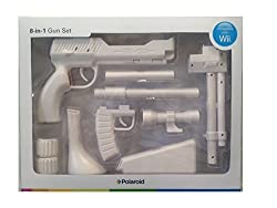 Polaroid Wii Zapper 8-in-1 Gun Set - White