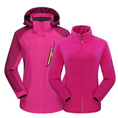 Moserian Womens Outdoor Outfit Two Piece Three in One Waterproof Breathable Coat
