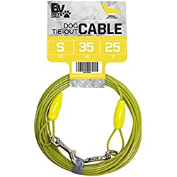 BV Pet Small Tie Out Cable for Dog up to 35 Pound, 25-Feet