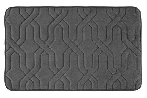 Bounce Comfort Extra Thick Memory Foam Bath Mat - Drona Premium Micro Plush Mat with BounceComfort Technology, 20 x 32 in. Dark Grey -  YMF Carpets Inc., YMB002158