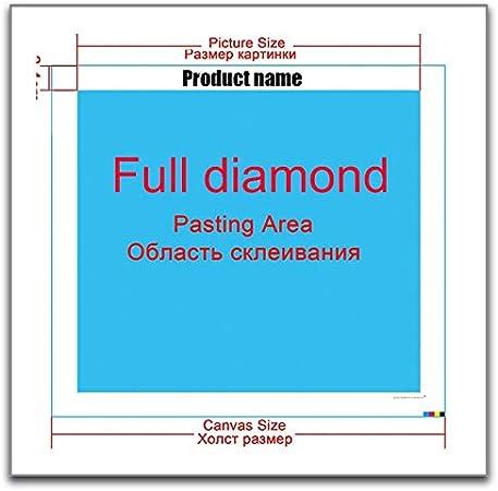 Kit de Peinture Diamant 5D Kits Complet Diamond Painting Grande Taille DIY Fleur psych/éd/élique abstraite Broderie Strass Point de Croix Art D/écor Salon Chambre Mural Gift Square Drill 30X60cm