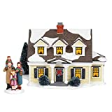 Department56 Original Snow Village Welcoming Christmas Lit Building and Accessory 7.09'' Multicolor