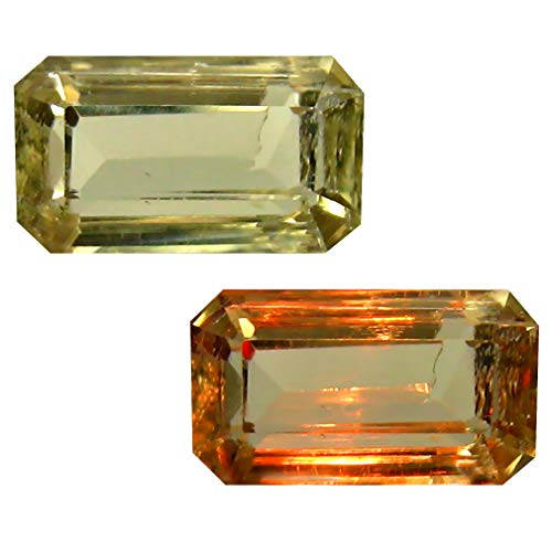 Deluxe Gems 2.79 ct Octagon Cut (11 x 6 mm) Unheated/Untreated Turkish Color Change Diaspore Natural Loose Gemstone