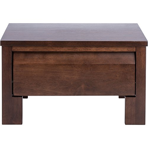 Modern Solid Wood End Table Night Stand with 1 Drawer - Includes Modhaus Living Pen