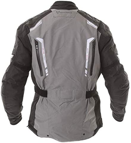Frank Thomas Reflector Mens Textile Motorcycle Jacket Waterproof Grey Black J/&S M
