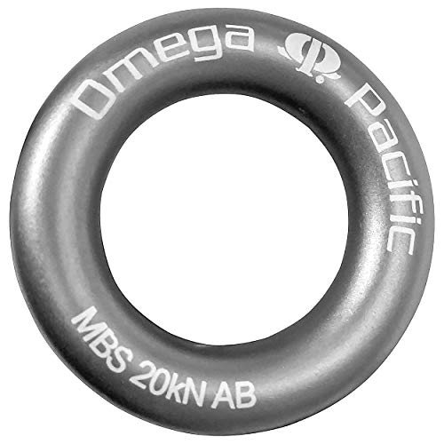 (Omega Pacific Rappel Ring, Gray, Forged Aluminum Aircraft Alloy for Bail-Outs and Rap Stations )