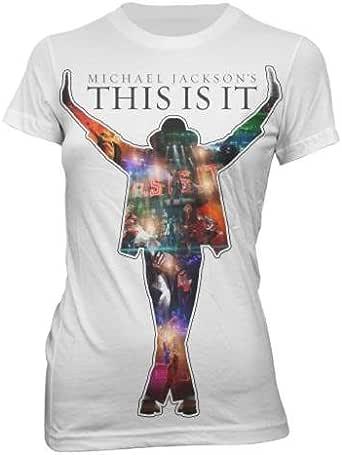 Bravado - Camiseta Mujer Michael Jackson: Movie Collage, Color Blanco, Talla S: Michael Jackson: Amazon.es: Ropa y accesorios