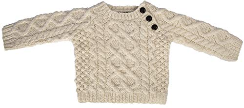 BABY'S HANDKNIT SIDE FASTENING SWEATER BY CARRAIG DONN Clothing Hand Knit Sweaters