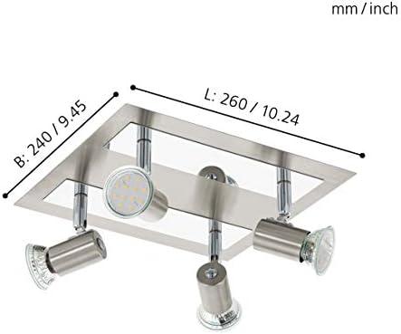 Eglo ROTTELO Spot, Stahl, GU10, 5 W, nickel-matt, chrom