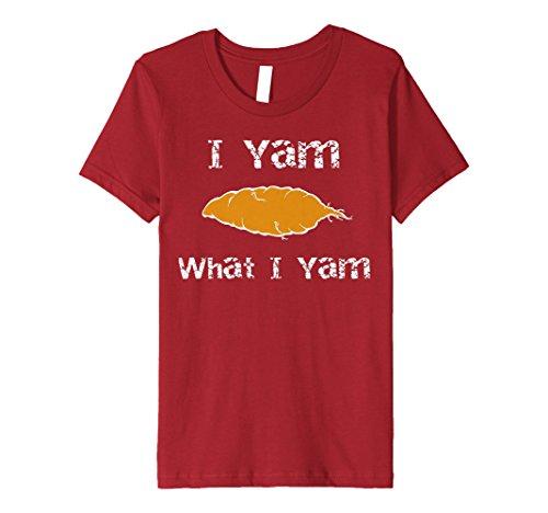 Kids I Yam What I Yam Sweet Potato Pun Shirt 2 ()