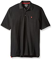 Izod Men's Big & Tall Advantage Performance Solid Polo, Black, 3x-large Big