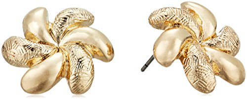 Napier Womens Swirl Button Stud Earrings, Gold-Tone - Gold Tone Button Earrings
