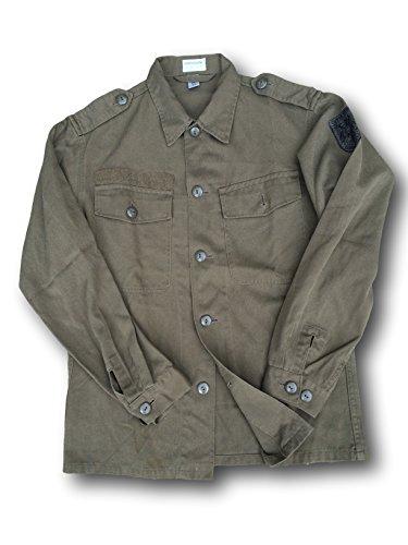 Vintage Dell'esercito Uomo Militare AustriacoVerde Da Camicia 2YWHeDIE9