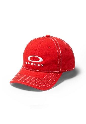 Oakley Mens TP3 Snap-Back Adjustable Hat, Red Line, One - Oakley Best For Sunglasses Golf