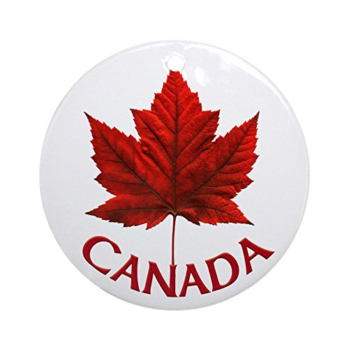 CafePress Canada Souvenir Ornament Maple Leaf Gift Keepsake Round Holiday Christmas Ornament