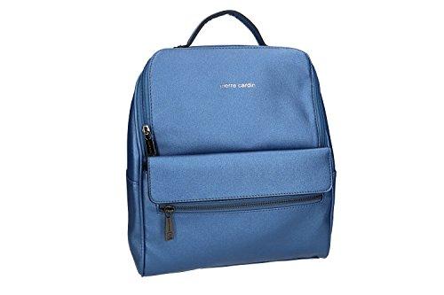 Tasche damen rucksack schulter PIERRE CARDIN blau mit offnung zip VN1000