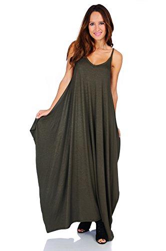 e5048e8d03c Simply Ravishing Rayon Span Maxi Boho Harem Spaghetti Strap Dress (Size  ...