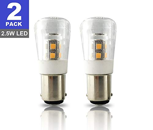 SRRB Performance 12V AC/DC BA15D LED Replacement 1004/1076 / 1142 Light Bulb for RV Camper Travel Trailer Motorhome 5th Wheels and Marine Boat (2 Pack, Warm White)